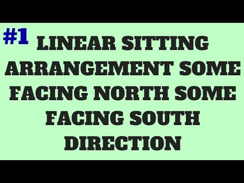 #1 PUZZLE AND SITTING ARRANGEMENT SERIES || LINEAR SITTING ARRANGEMENT FACING NORTH AND SOUTH
