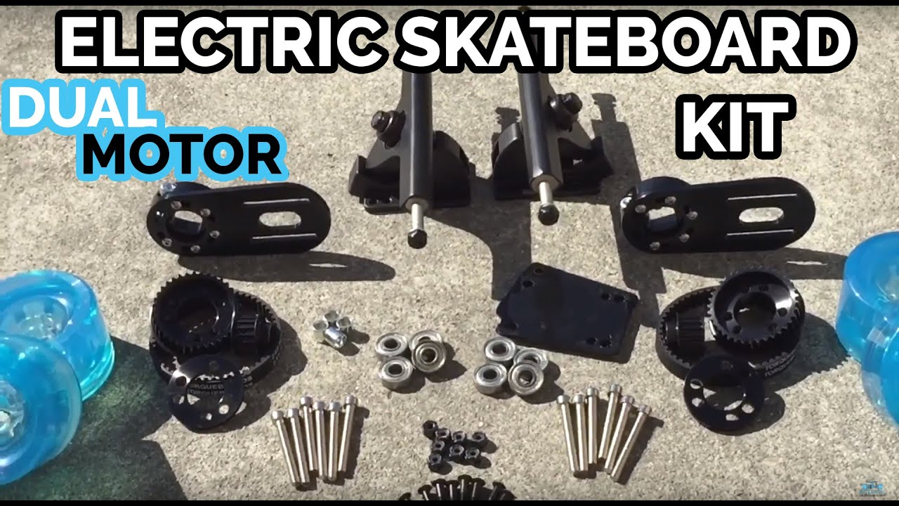 Dual Motor Mechanical Kit with Clear Blue Wheels - DIY Electric ...