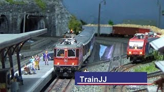 Märklin Modelleisenbahn H0 Gotthard Strecke | Swiss Model Train layout | Zwitserse modelbaan Marklin