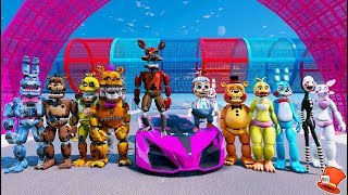 nightmare vs toy animatronic stunt ramp competition gta 5 mods for kids fnaf redhatter