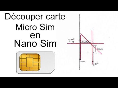D couper carte micro sim en nano sim tutoriel iphone 5 5s 5c 6 6 plus youtube - Couper une micro sim en nano sim ...