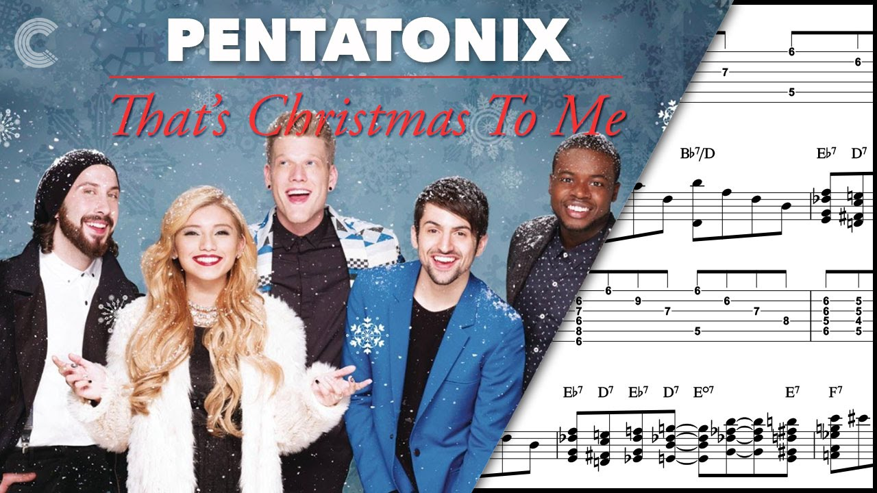 Pentatonix Thats Christmas To Me.Bass That S Christmas To Me Pentatonix Sheet Music Chords Vocals