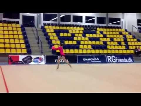 Jysk/Fynsk mesterskaberne i RSG 2015, Junior og Senior, Laura Broberg,Silkeborg, Bold