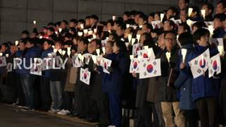 South Korea  Protests against Pres  Park persist ahead of impeachment vote