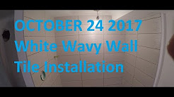 TIle Setting A Stand Up Shower Wavy Tile