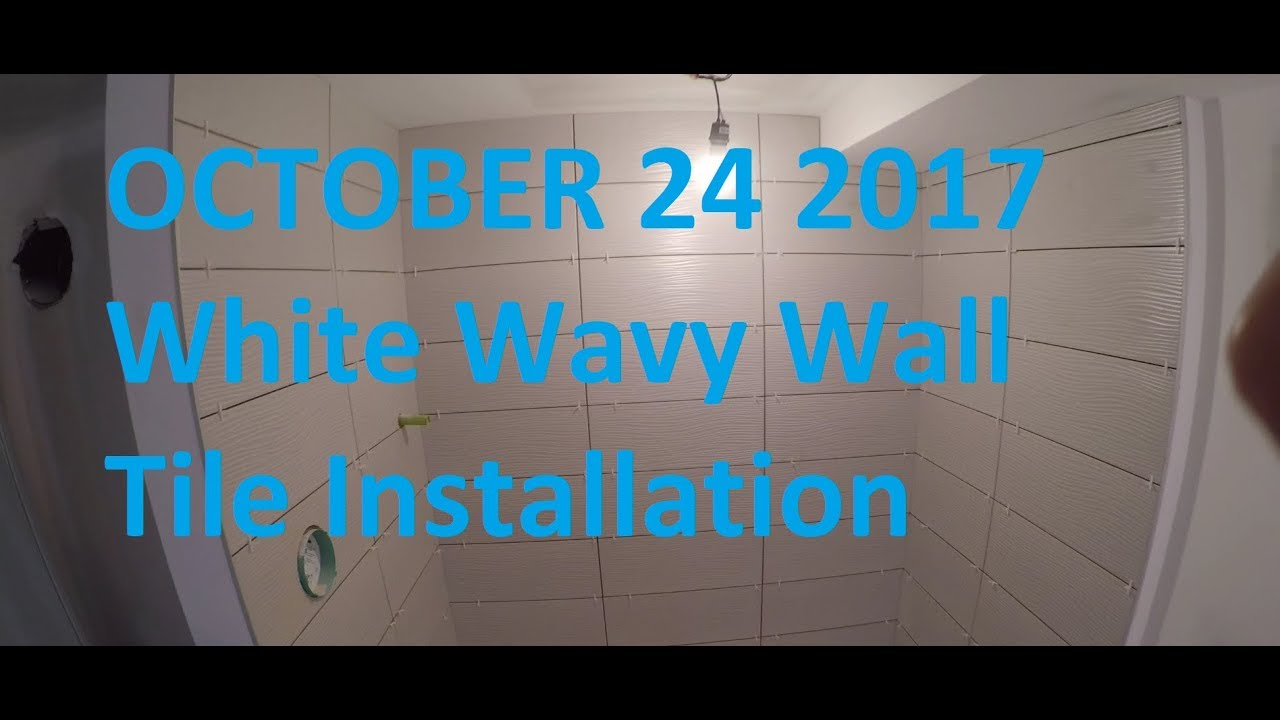 TIle Setting A Stand Up Shower Wavy Tile - YouTube