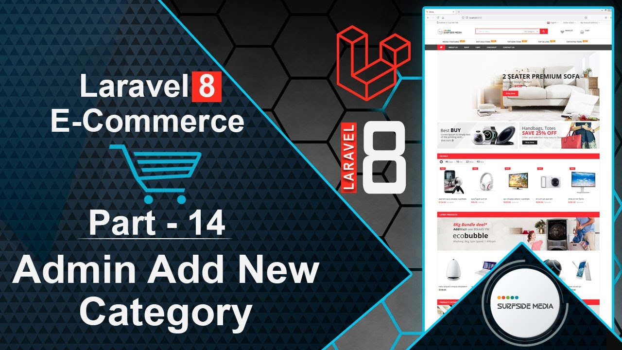Laravel 8 E-Commerce - Admin Add New Category