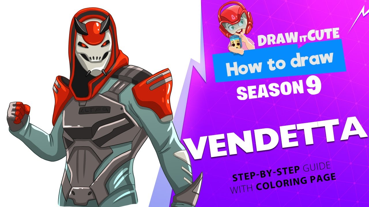 How To Draw Vendetta Step By Step Guide With Coloring Page