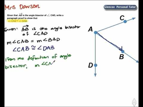 Write a Paragraph Proof - YouTube