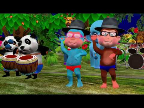 Five Little Monkeys Jumping On the Bed - Nursery Rhymes Videos for Children, Babies and Kids