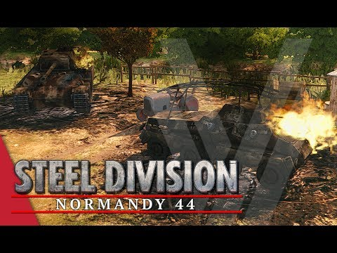 Armoured Outside Eglise! Steel Division: Normandy 44 Gameplay (Sainte-Mère-Église, 3v3)