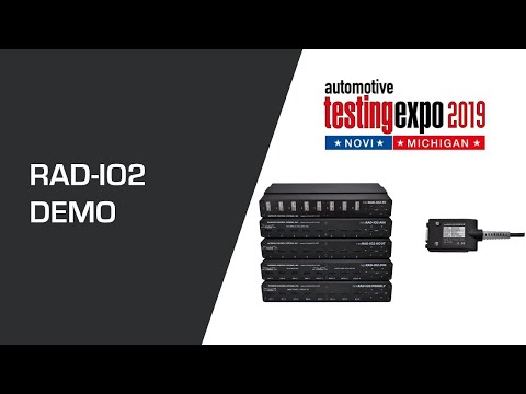 Isolated Analog, Digital Or Temperature Interfaces To USB & CAN, RAD-IO2 At Testing Expo Novi 2019