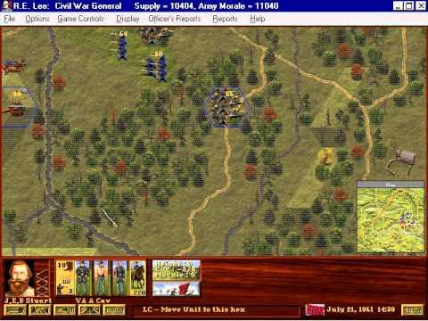 R.E.Lee: Civil War General Gameplay: The movie
