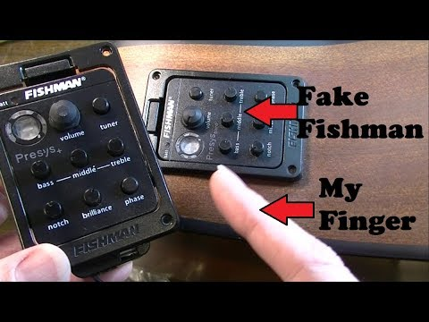 FAKE Fishman Preamps from Ebay Tried to Violate Me