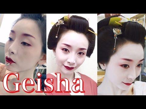 Traditional Geisha Makeup☆芸者メイク