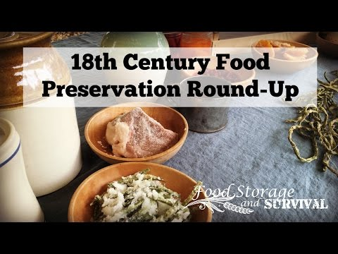 18th Century Food Preservation Round Up from the Colonial Heritage Festival 2016