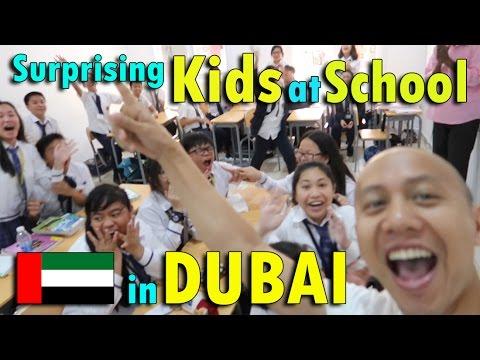 SURPRISING KIDS AT SCHOOL IN DUBAI | April 28th, 2017 | Vlog #97