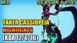 SKT T1 Faker - Cassiopeia vs Zed - Mid - Highlights (Sep 29, 2016)