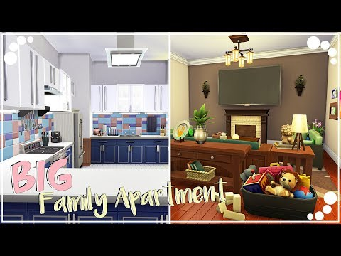 BIG FAMILY APARTMENT | THE SIMS 4 | Speed Build