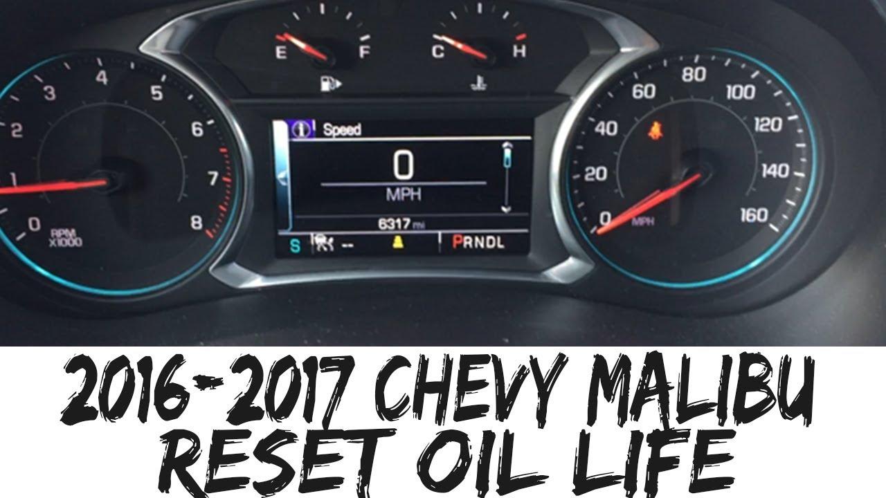 2016 2017 Chevy Malibu Reset Oil Life How To Impala