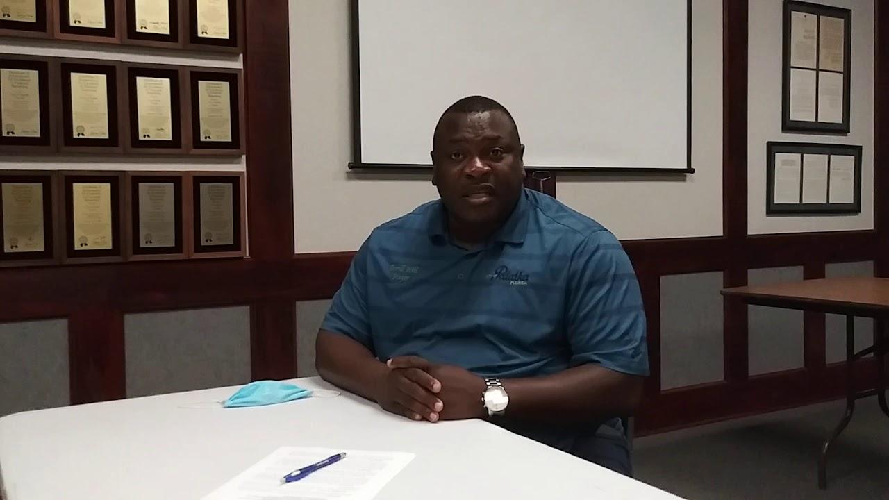 Palatka Mayor Terrill Hill talks about Confederate statue