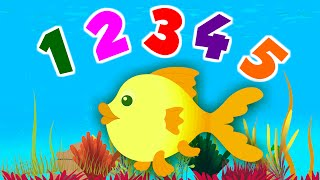 12345 Once I Caught A Fish Alive   Popular Nursery Rhymes   Kids Songs