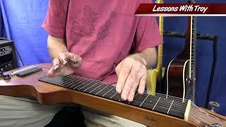 Sleepwalk - Sliding Harmonic Lick - C6 Lapsteel Lesson