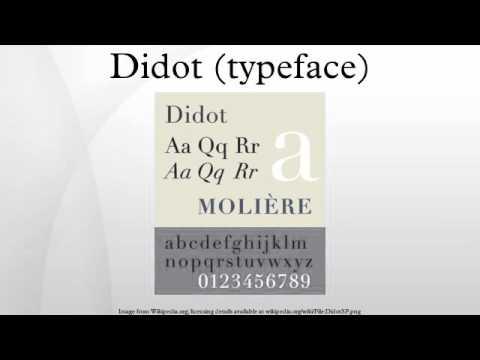 Didot (typeface)