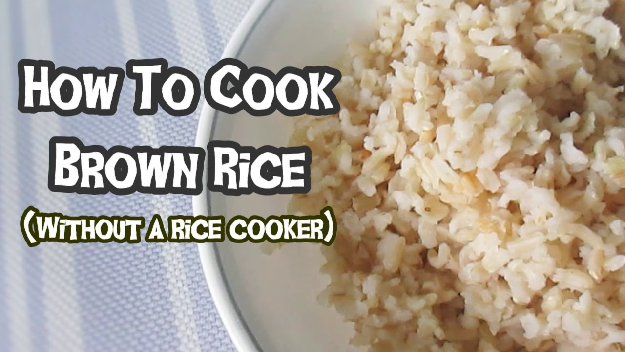 How to cook brown rice without a rice cooker youtube ccuart Images