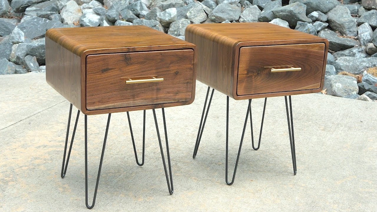 Mid-Century Modern Walnut End Table