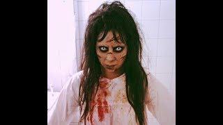 Exorcism makeup tutorial! EASY TO DO!