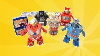 奧特曼變形玩具 杯麵變成賽羅艾斯鹹蛋超人