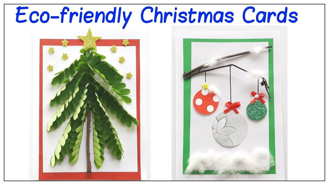 Eco Friendly Christmas Card Christmas Greeting Card Diy Youtube