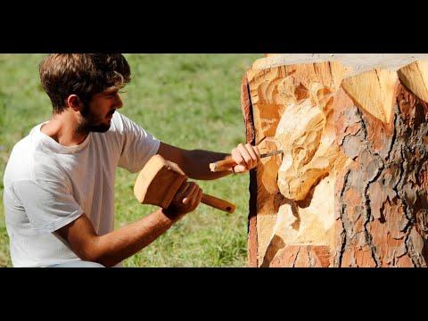 شاب إيطالي يحول جذوع الأشجار الميتة إلى منحوتات  - نشر قبل 50 دقيقة