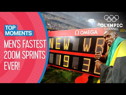 Top 10 Fastest Men's 200m Sprint in Olympic history! | Top Moments