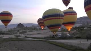 Турция, Каппадокия, весна 2013 г., фото-тур(Запуск шаров в Турции провинция Каппадокия. Съемка видео в режиме таймлапс., 2013-05-09T12:41:49.000Z)