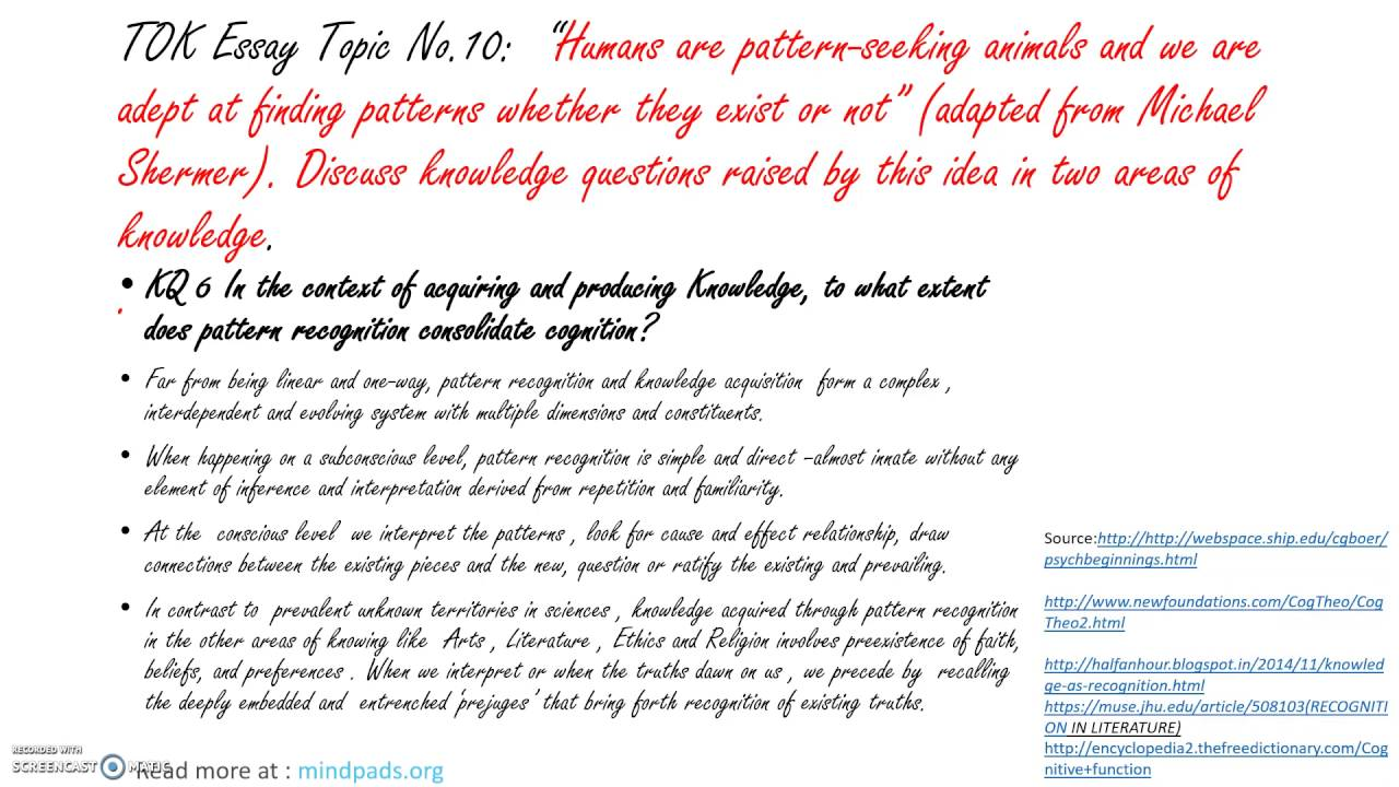 ib tok essay topic humans are pattern seeking animals  ib tok essay 2017 topic 6 humans are pattern seeking animals 2
