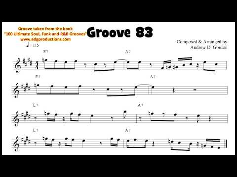 Funky Flute Groove Lesson from the book 100 Ultimate Soul, Funk and R&B Grooves for Flute