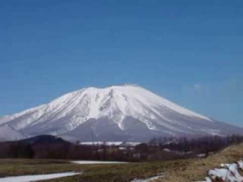 3月の岩手山