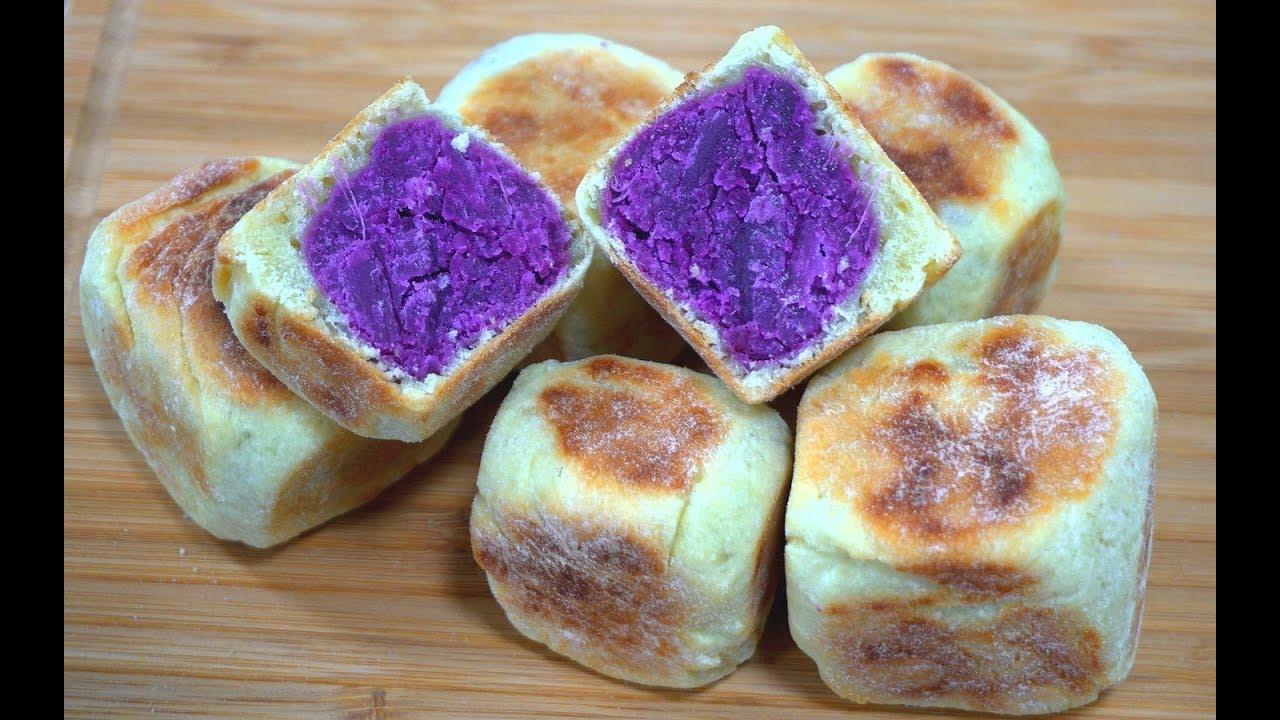 不用烤箱做紫薯糕,皮薄馅大又宣软,做法比馒头简单,比面包好吃