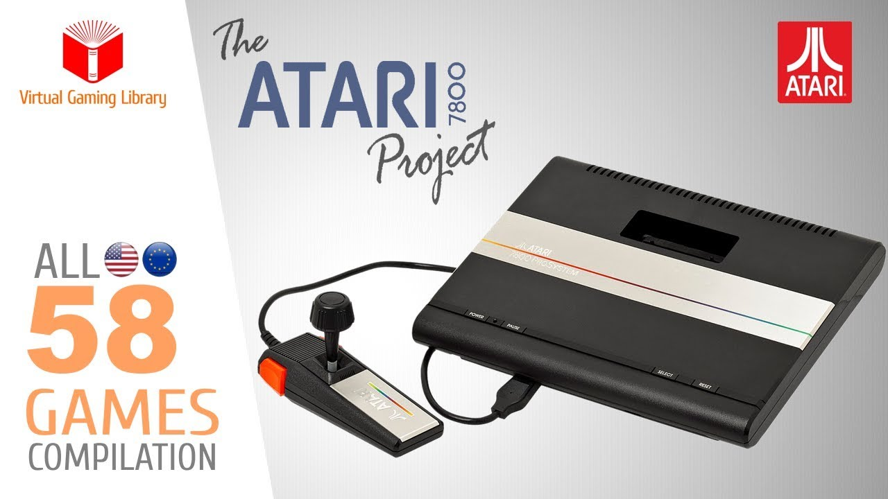 The Atari 7800 Project - All 58 Games - Every Game (US/EU)