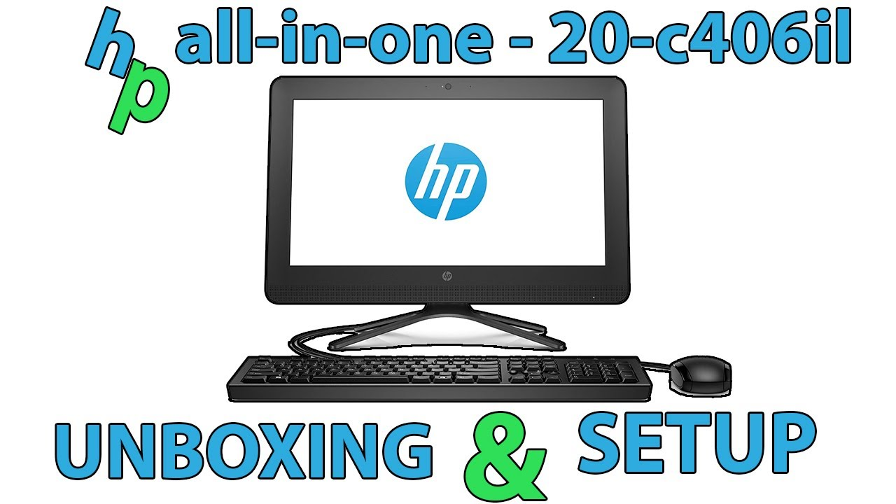 hp all-in-one - 20-c406il Unboxing and Setup