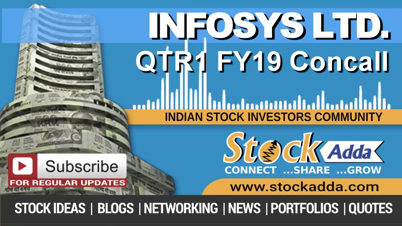 Infosys Ltd Investors Conference Call Qtr1 FY19