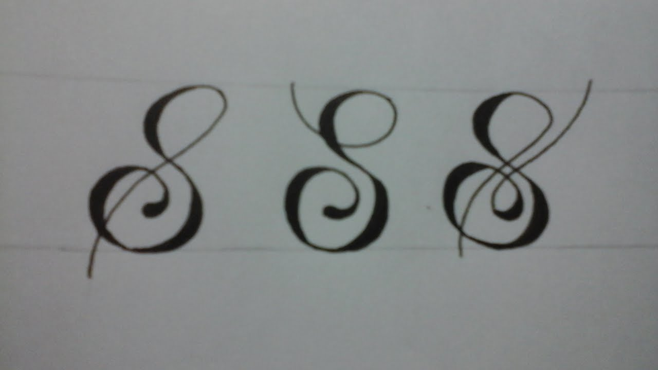 Calligraphy letter s with normal pen youtube