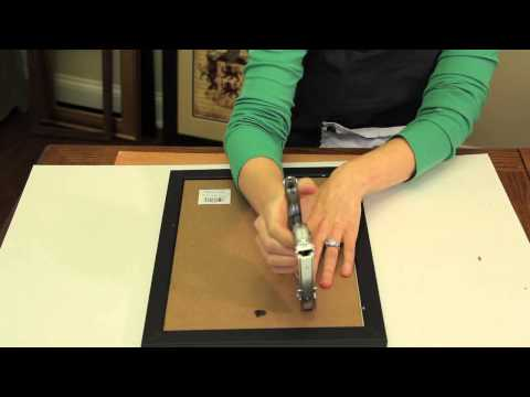 How to Secure the Backer to Picture Frames : Picture Frame Crafts
