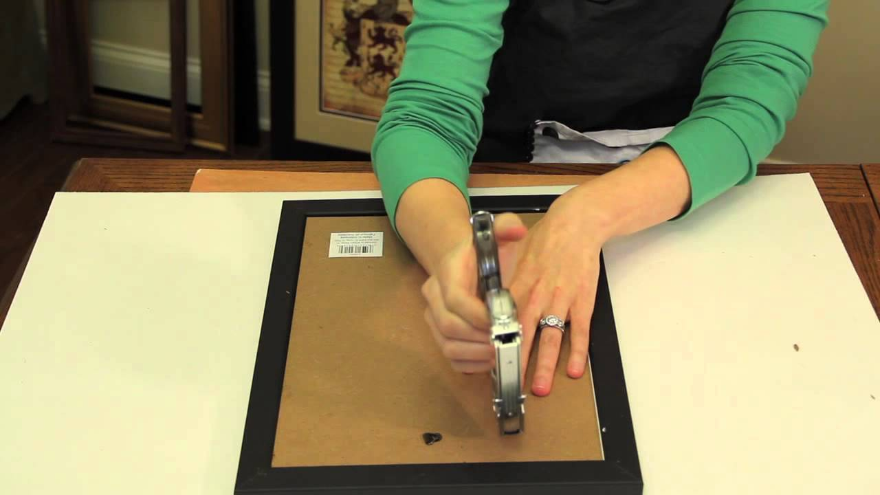 How To Secure The Backer To Picture Frames Picture Frame Crafts