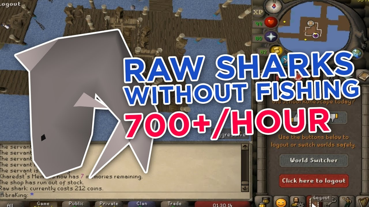 OSRS - How to get sharks as an Ironman without fishing them