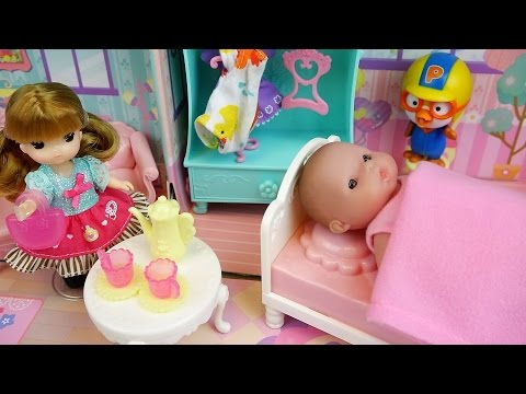 Thumbnail: Baby doll paper house bag toy play