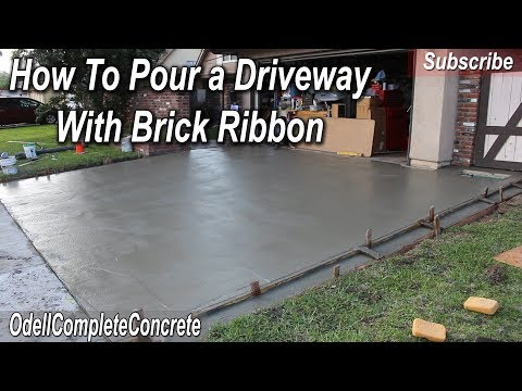 how-to-pour-a-concrete-driveway-with-brick-ribbon-sides-diy