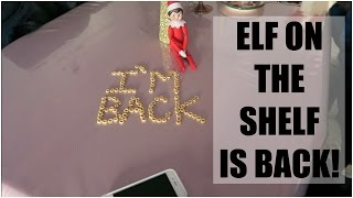 ELF ON THE SHELF IS BACK! - November 28, 2015